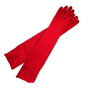 červené spoločenské saténové rukavičky | designers' collection